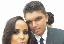 Marcos com a esposa, a manicure Daniela. Foto - arquivo pessoal