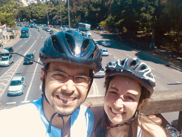 O casal Marconi Gomes da Silva e Janaína Amorim. Foto - Arquivo pessoal
