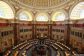 Um dos ambientes da Biblioteca do Congresso Norte Americano, considerada a maior do mundo.