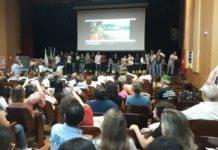 Plenária dos conselhos estadual, municipais e locais de saúde, no auditório da Faculdade de Medicina da UFMG, em defesa do SUS