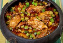 Frango com quiabo, prato típico da cozinha mineira