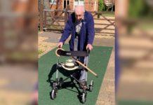 Tom Moore, de 99 anos, já conseguiu arrecadar mais de 100 milhões para ajudar sistema de saúde britânico. Fotos-Youtube-Redes Sociais