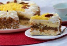 O delicioso bolo Marta Rocha, uma homenagem à ex-miss Brasil. Foto - Revista Sabores do Sul