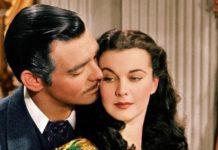 """Clark Gable e Vivien Leigh em cena do clássico """"E o vento levou"""". Imagem - redes sociais"""