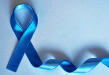 Fita azul é simbolo da campanha mundial de prevenção ao câncer de próstata. Imagem - redes sociais